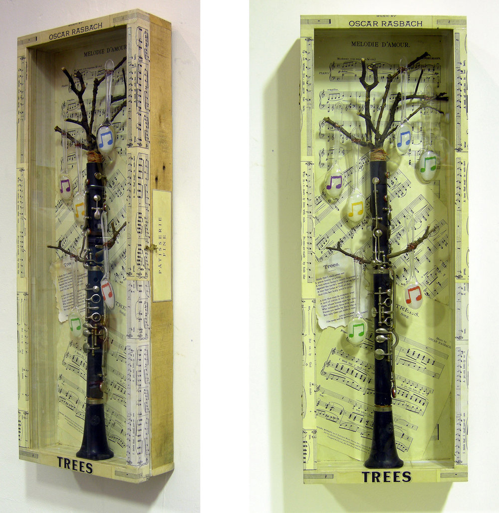 MUSICAL TREE Assemblage with found objects | w 27 X h 76.5 X d 10 CM | 2013