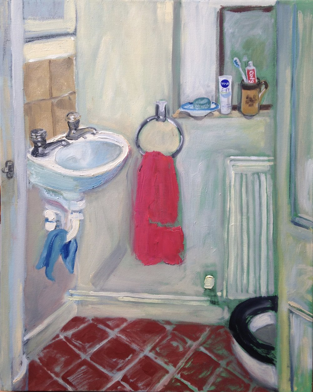 PINK TOWEL  Oil on Canvass | 41 cm x 51 cm | 2017  Available £400.00