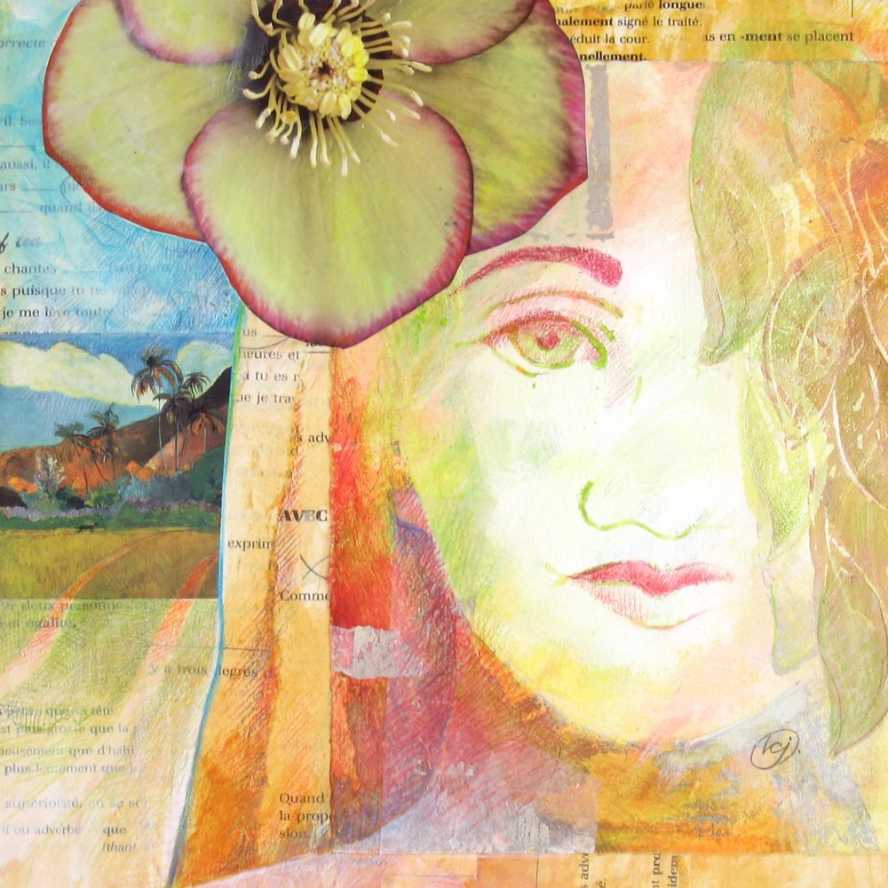 Dream Journey  | mixed media collage | 8 x 8 | SOLD,  prints available