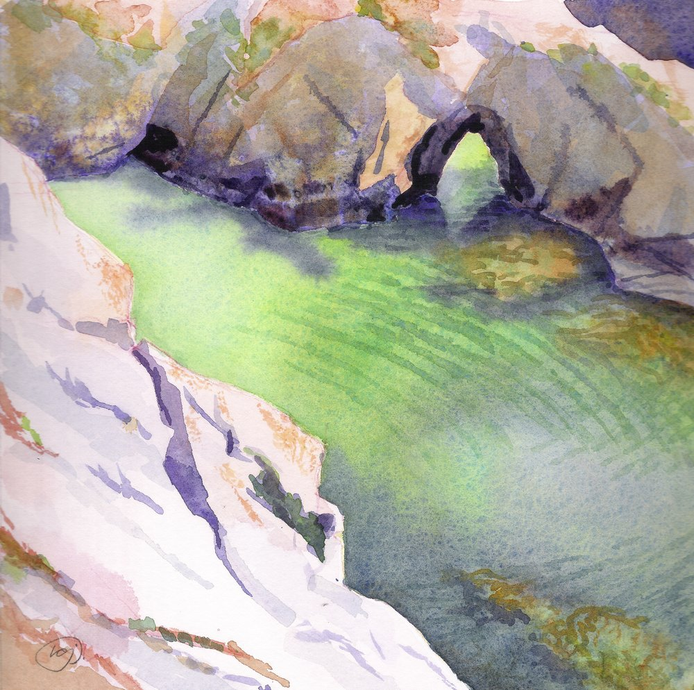 China Cove  | watercolor | 8 x 8 | SOLD,  prints available