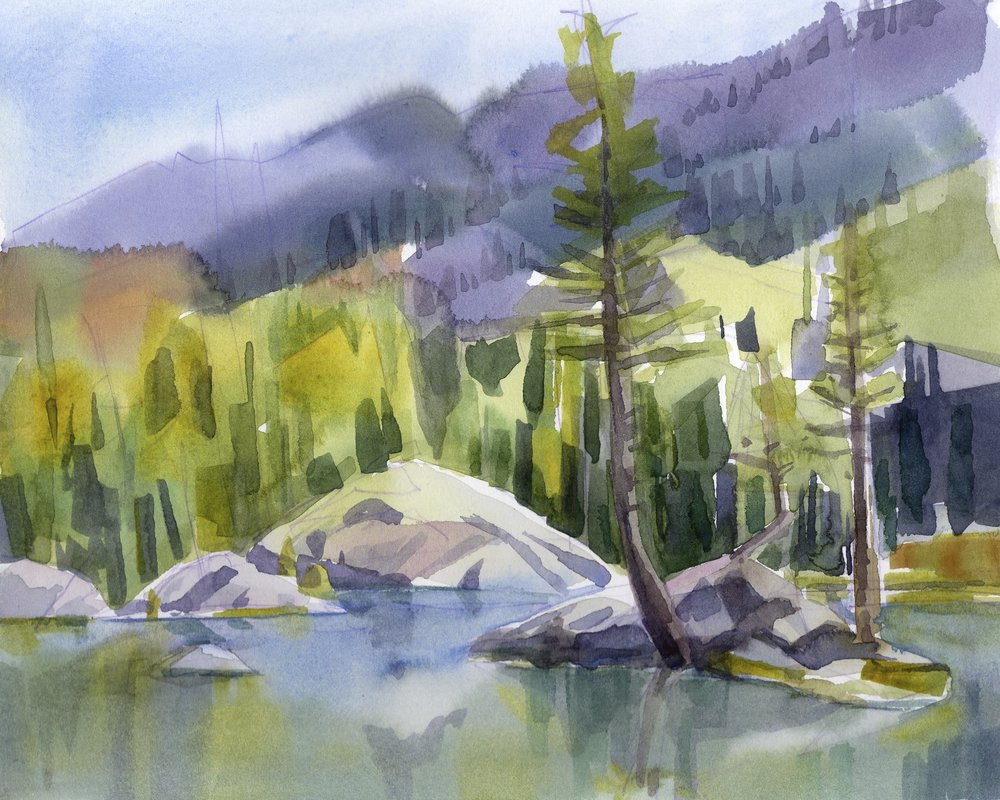 Woods Lake  | watercolor | 8 x 10 | $150