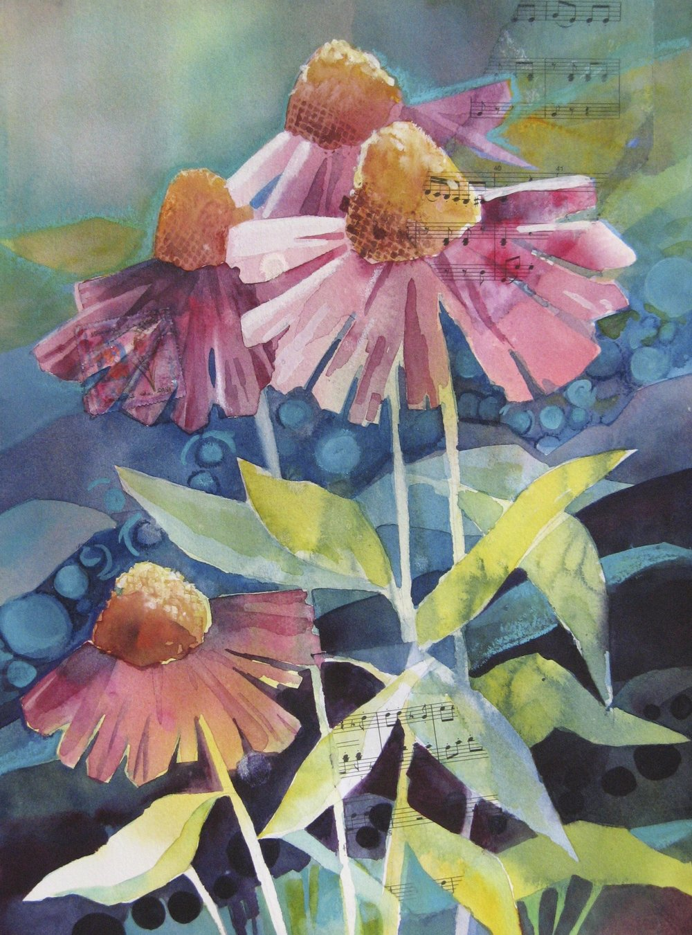 Coneflowers  | watercolor | 11 x 15 | SOLD,  prints available