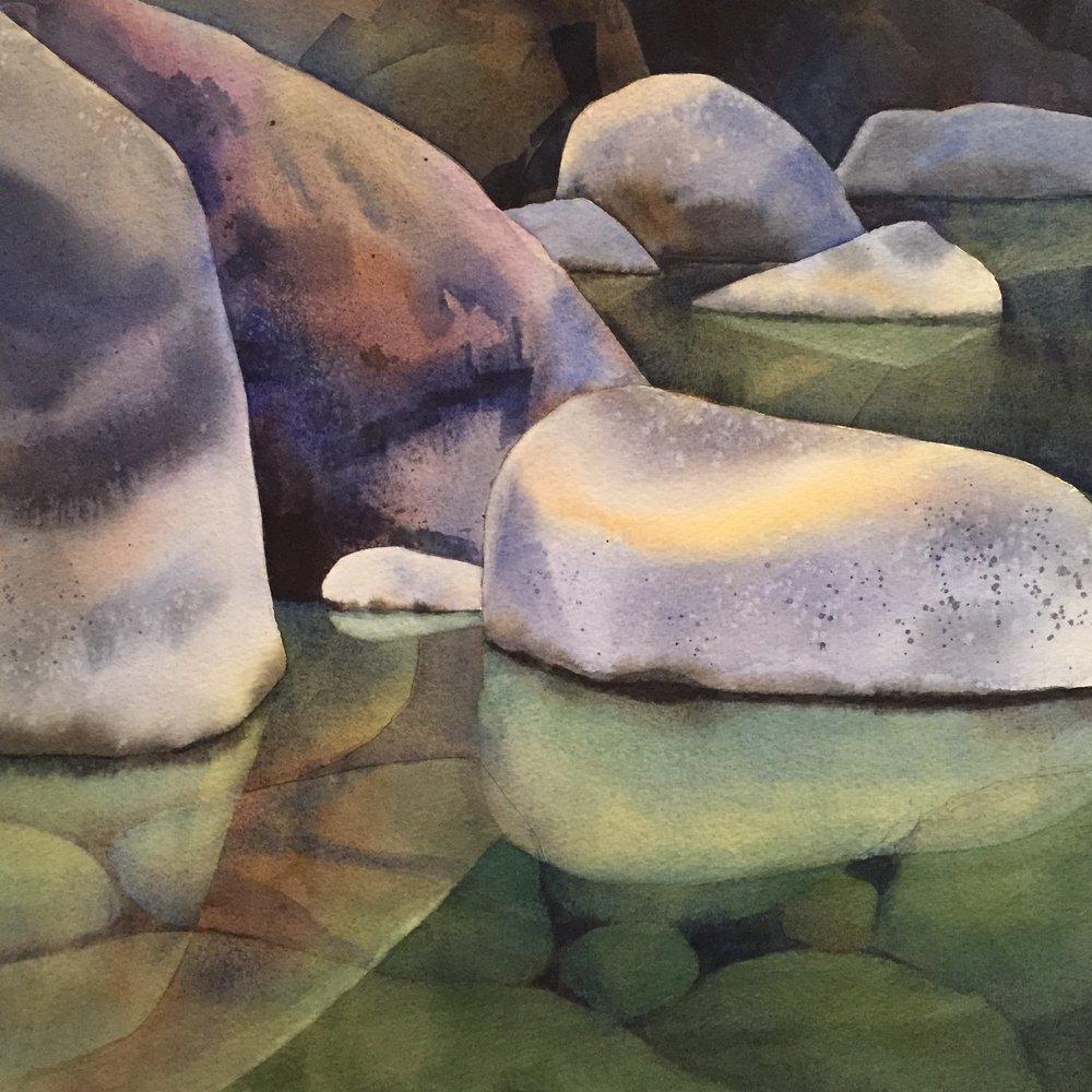 Yuba Pool  | watercolor | 20 x 20 | SOLD