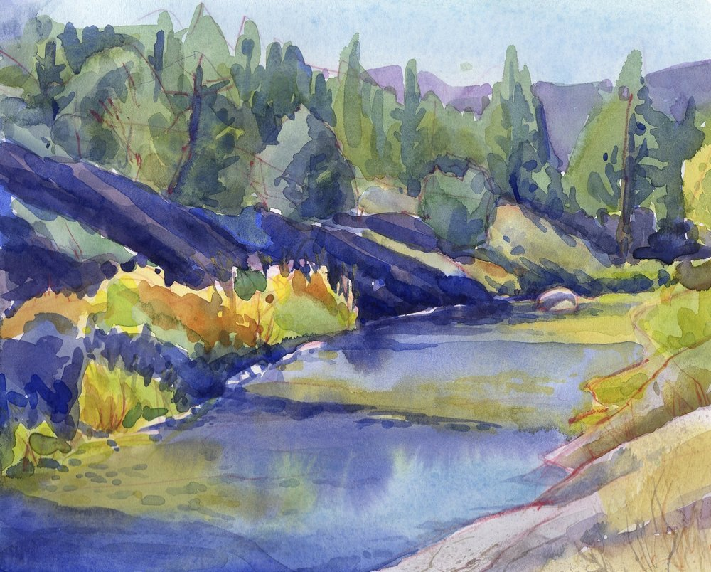 East Fork of the Carson River  | watercolor | 8 x 10 | $150