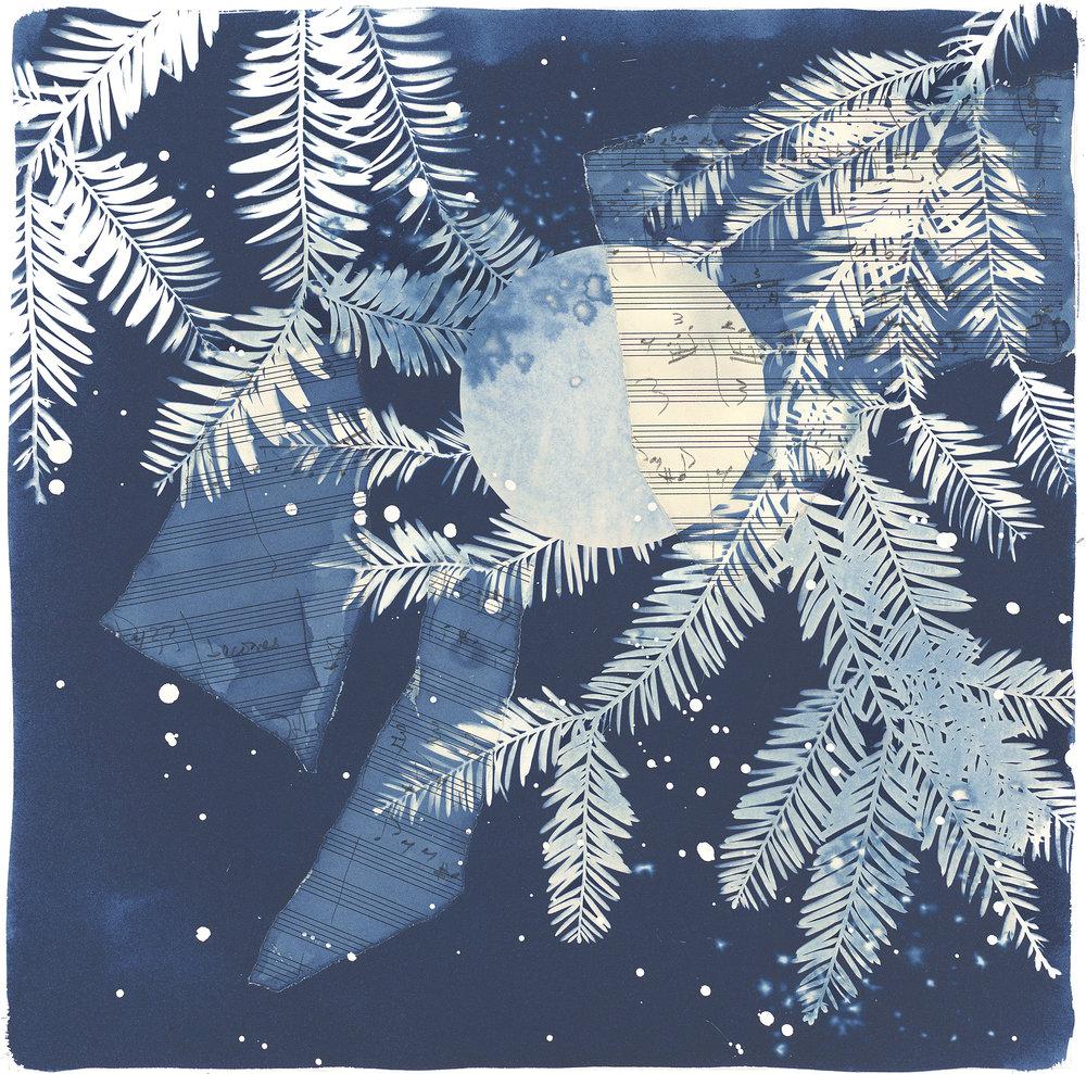 Longstock Moon  archival print | 14 x 14 image |$100