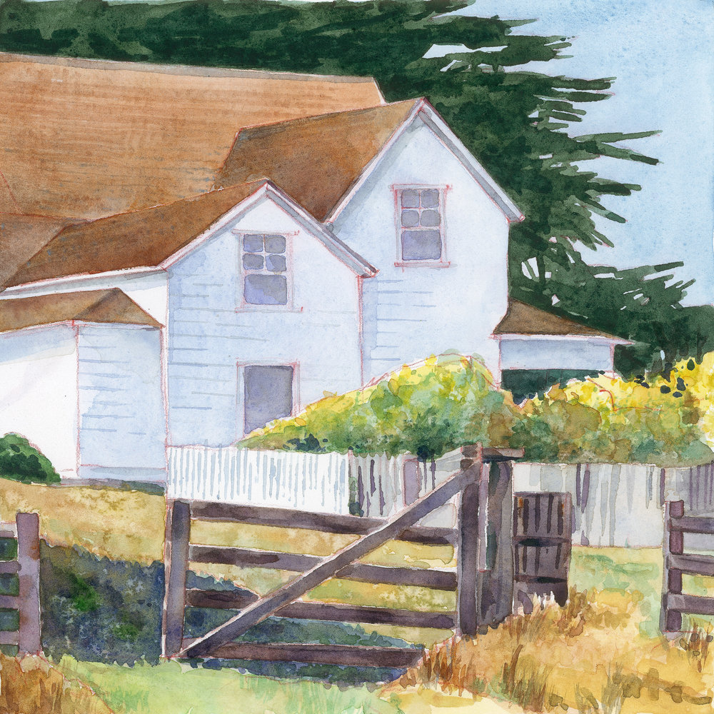 Point Reyes Farmhouse  archival print | 8.5 x 8.5 image - $50 | 14 x 14 image - $100