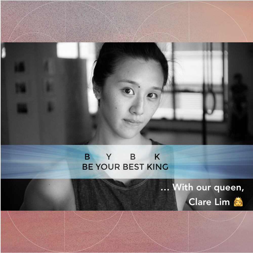 "BE YOUR BEST KING - ""Clare redefines growth by shifting from society's traditional focus on external physical accolades and performance such as those in sports competitions vs leading movement teachers to focus on connecting movement with one's inner identity, values and beliefs."""