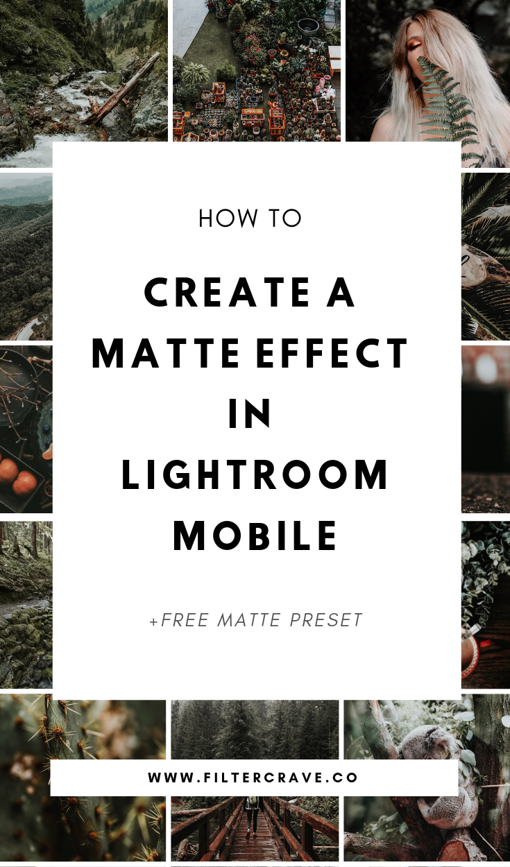 Lightroom CC Tutorial (Mobile App): Learn how to Create the Matte Effect in Lightroom Mobile with just a few easy steps. | Filtercrave Photography Tips + Photo Editing Tips + Lightroom Presets | #lightroom #lightroompresets #mattepresets #lightroommobile #lightroomtutorial