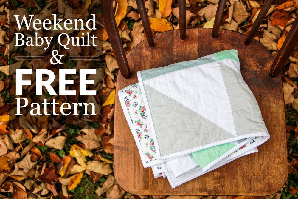 Weekend Baby Quilt A Free Pattern Village Bound Quilts