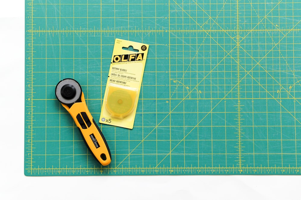 Basic Quilting Supplies - rotary cutter & self-healing mat. villageboundquilts.com