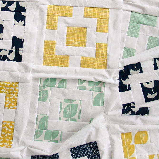 Haver Square quilt, Hemma fabric | Village Bound Quilts