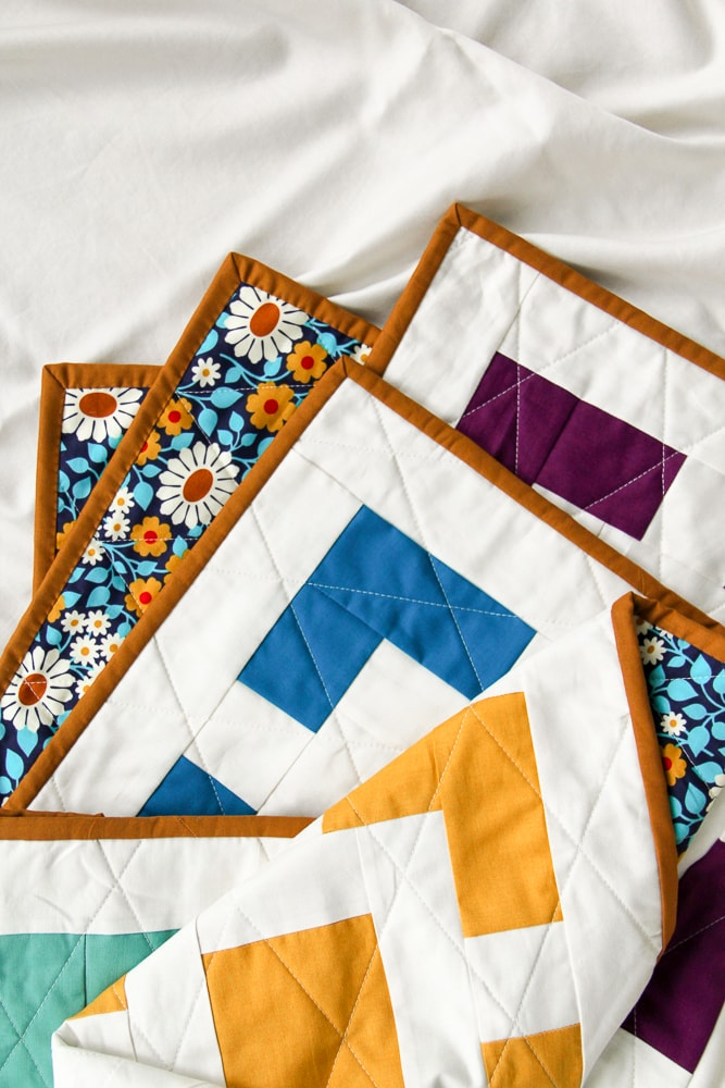 Haver Square quilt, hand sewn binding | Village Bound Quilts