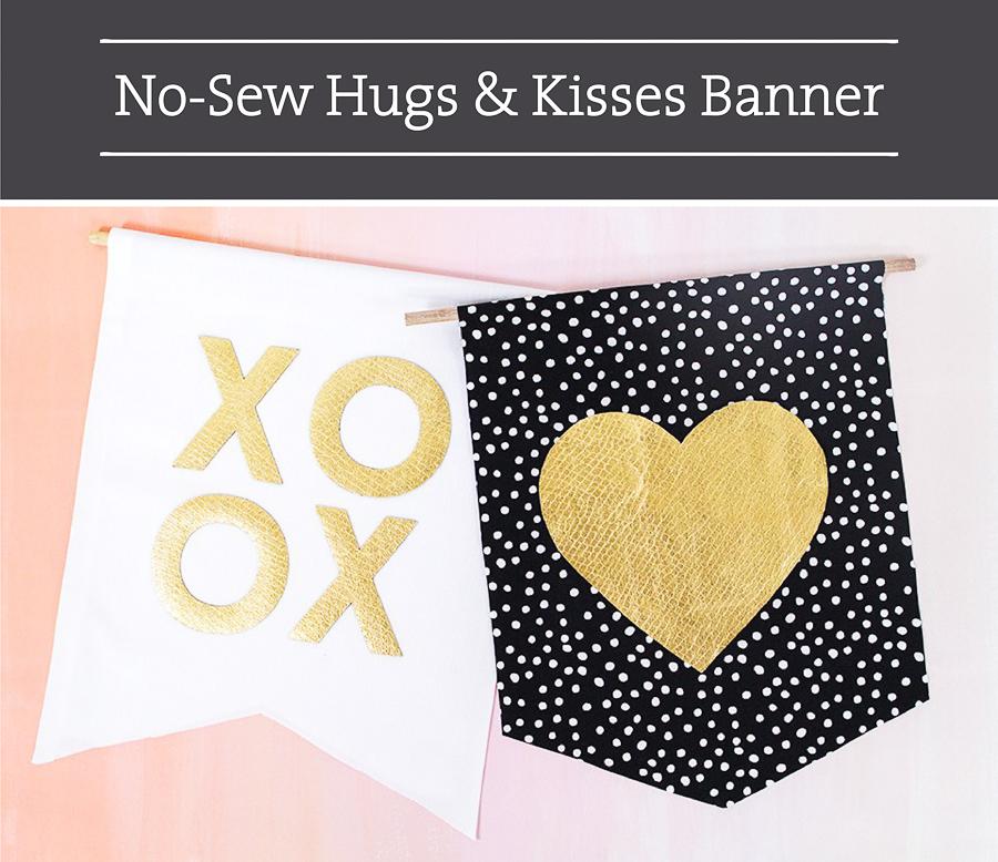 Valentine DIY Round Up: NoSew XOXO Banner. villageboundquilts.com
