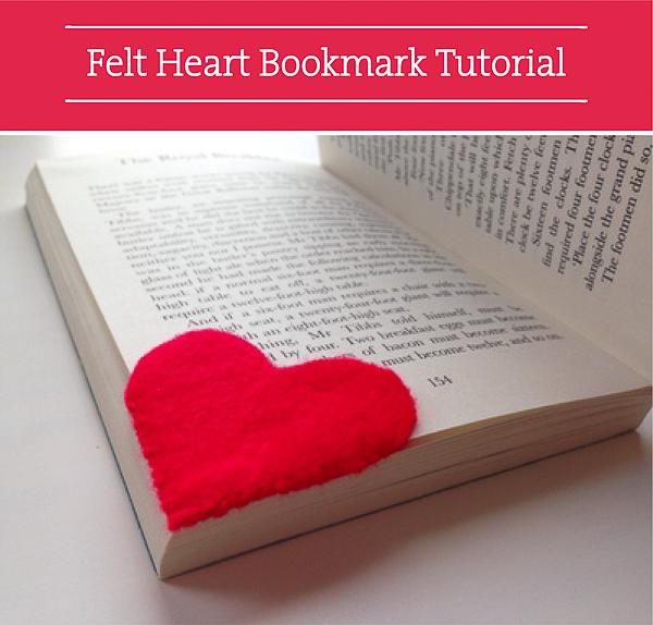 Valentine DIY Round Up: Felt Heart Bookmark. villageboundquilts.com