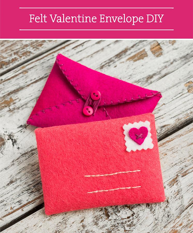 Valentine DIY Round Up: Felt Valentine Envelope. villageboundquilts.com