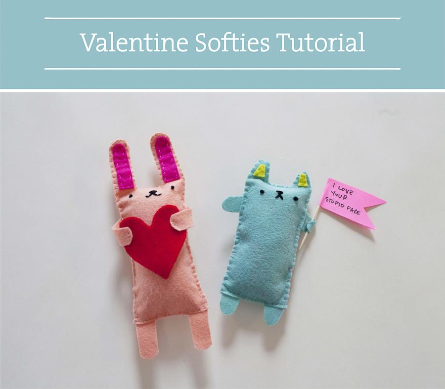 Valentine DIY Round Up: Felt Softies. villageboundquilts.com