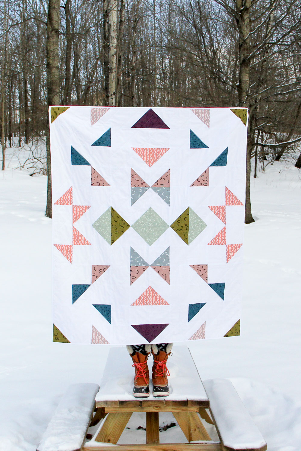 The Finch Quilt: a pattern by Tiffany Horn, villageboundquilts.com