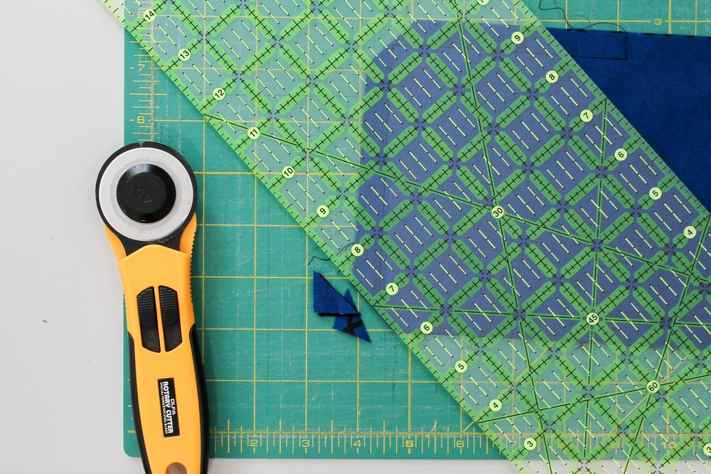 Trim all four corners, making sure not to cut through the perimeter stitching you just sewed.