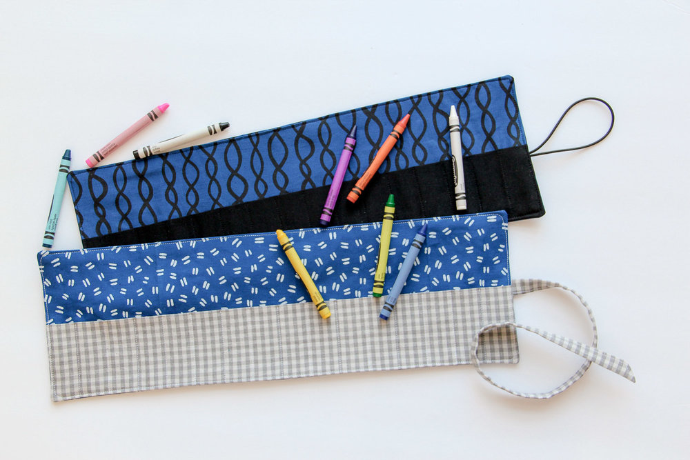 Crayon Roll DIY: a free tutorial by Tiffany Horn, villageboundquilts.com
