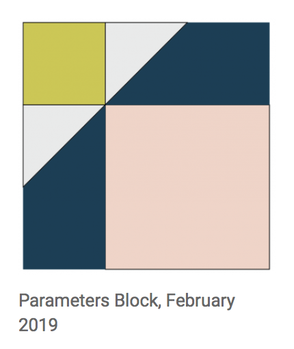 The MQG Feb.2019 Block Study - Parameters, by Tiffany Horn villageboundquilts.com