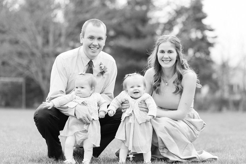 Helen's sister Sarah got married around the same time of year and had snow at her wedding! A few years later she is now a momma to darling twin girls!