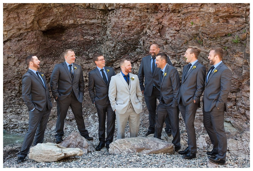 The groom and his best man are identical twins. The groomsmen thought it was pretty comical when I realized that during the portraits and had to do a double take! haha!