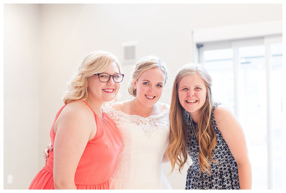 This one isn't perfect as I had a guest quickly snap it for me. Perfect or not I LOVE this photo! Past bride and current bride. Ladies, THANK YOU so much for letting me do this amazing job and sharing your beautiful friends with me! Its a job I don't take lightly!