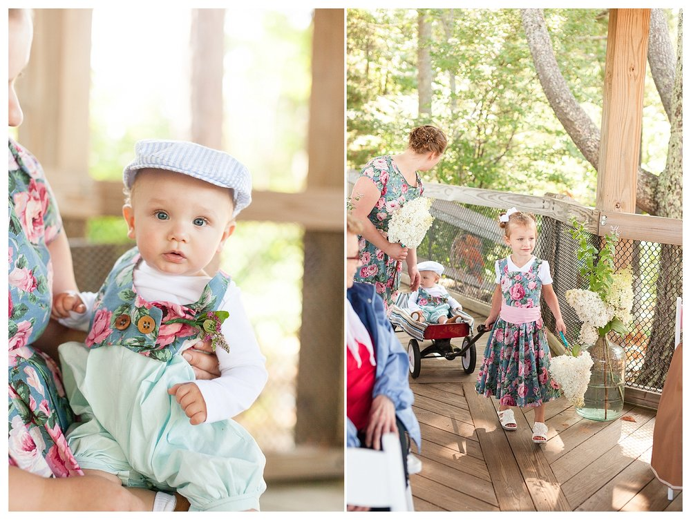 Garett has 1 nephew who was the ring bearer and Claire has 3 nieces who were flower girls. It all aligned so perfectly!