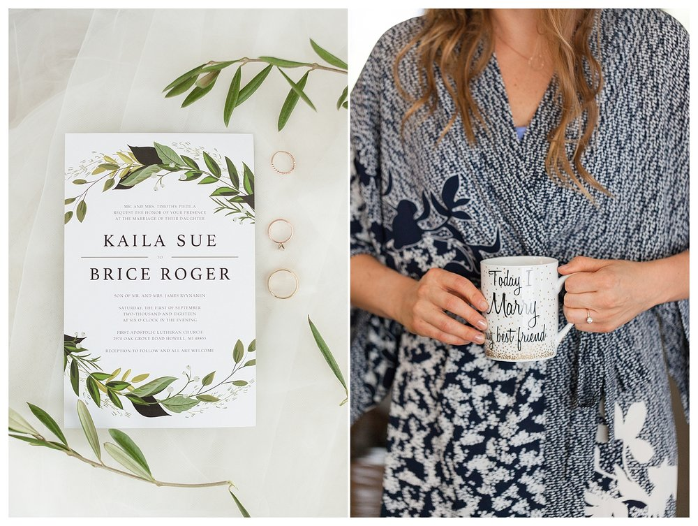 Many of Kaila's friends have used this exact mug on their wedding morning!  How fun to carry on that tradition! :)