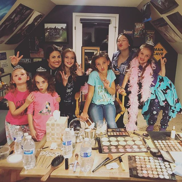 Sleepover at Aunties! Thank you to our makeup artist, Myra #memoriesmade #girltime #niecesarethebest #makeupartist #tiffanyconcklin