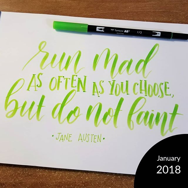 """This week's Homwork assignment is to recreate a past piece! Swipe for the before pic.  When I originally lettered this quote back in August of 2016, I was still getting the hang of a brush pen. I'd only been lettering for four months, and I was struggling with pen pressure. I remember being so happy there was clear definition between my thick and thin strokes.  Controlling my pen pressure has gotten easier (yay practice!), and I'm a little more comfortable with composition now. I abandoned lettering with pen and paper for several months in favor of lettering with a  iPad but it's a skill I want to develop. I'll be using my """"now"""" piece as a starting point for the Let's Keep Lettering class with Amanda Arneill! I'm so excited to keep building a skill set.  #homwork #ilovelettering #modernscript #lettering #handlettering"""