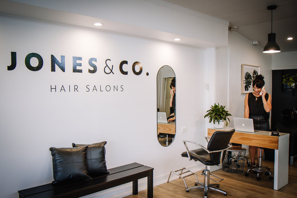 Welcome to 'Jones and Co. Salons' - At 'Jones and Co.' we aim for high quality service and experience. We are not just a hair style or beauty treatment, we are specialised and experienced in our field. We hope you love your experience as much as we love delivering.