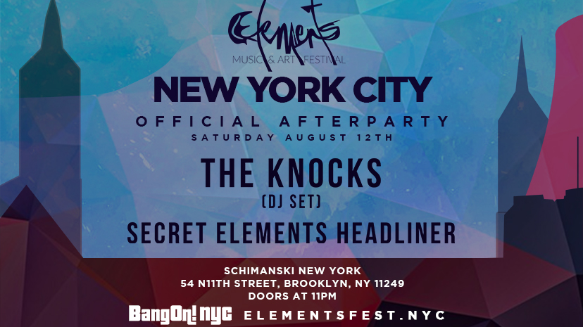 Saturday August 12 - The Knocks (DJ SET) at Schimanski