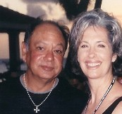 Cheech Marin with April Brown Auctioneer