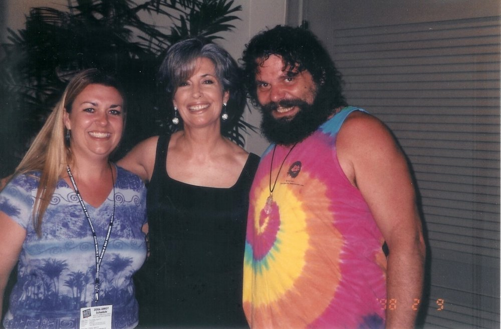 Survivor Winner Rupert Boneham with April Brown Auctioneer