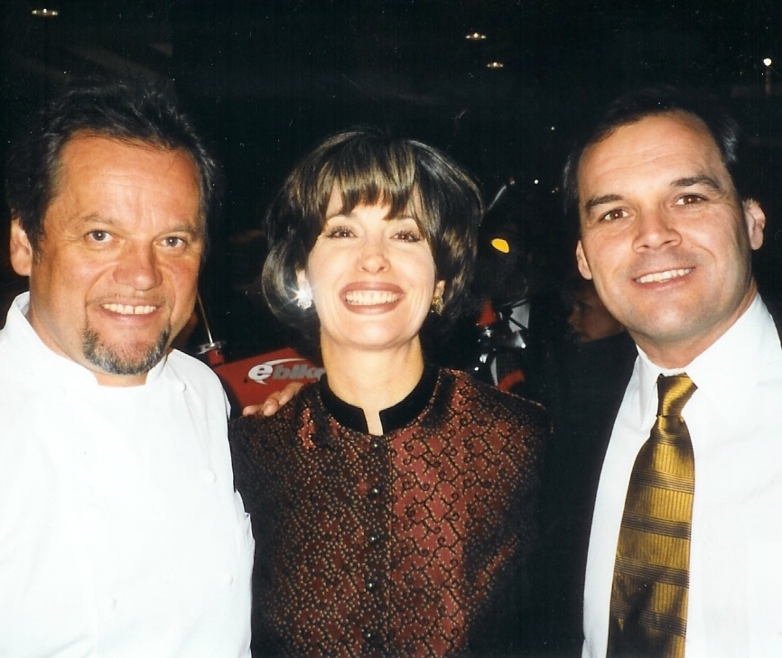 April Brown with Wolfgang Puck