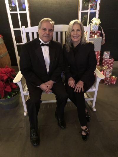 Guests were invited to take photos seated in Santa's chair.