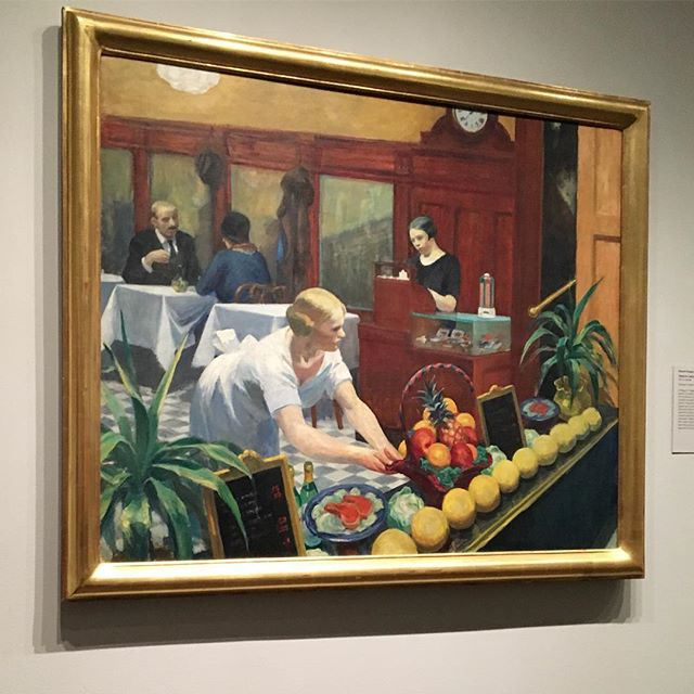 Check out our website for ideas for teaching with art #edwardhopper #tablesforladies #metmuseum #timetravelkidsnyc