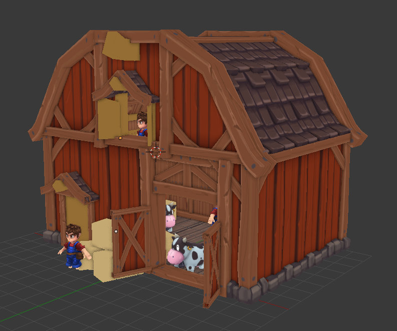 The New barn! It's a work in progress as you can see, but this gives a nice idea on what the buildings will be like. This is the smallest barn, eventually we will add a larger one with more space for animals, we will even add extensions for each barn type!
