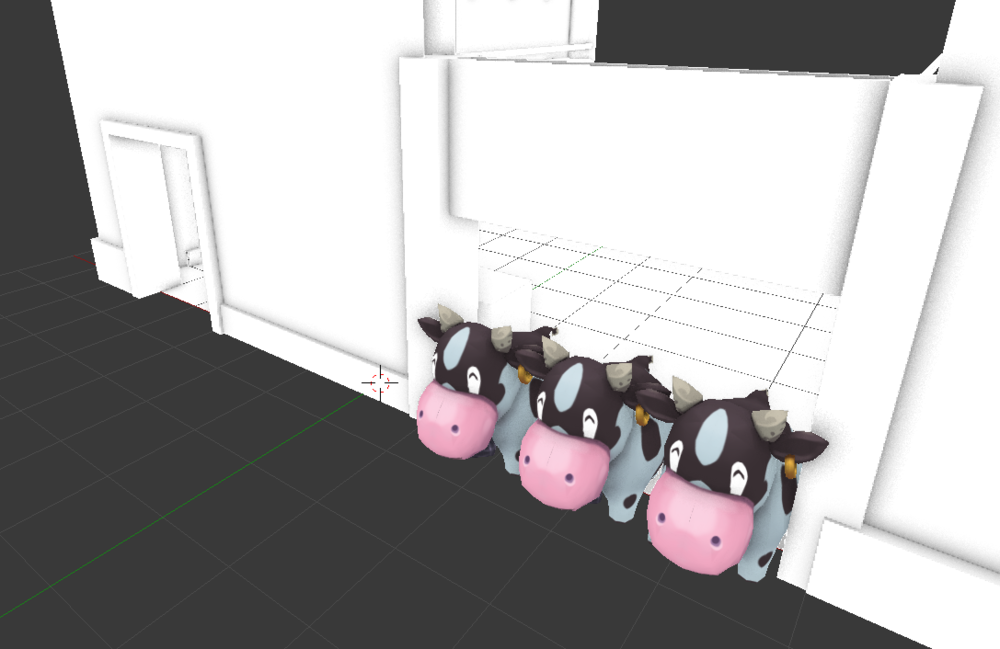 Look at these cute little moo-ers! Part of the work in progress barn.