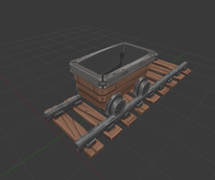 Here is our new mine cart! There will also be a variation full of coal, along with a version you can drive through the mine systems!