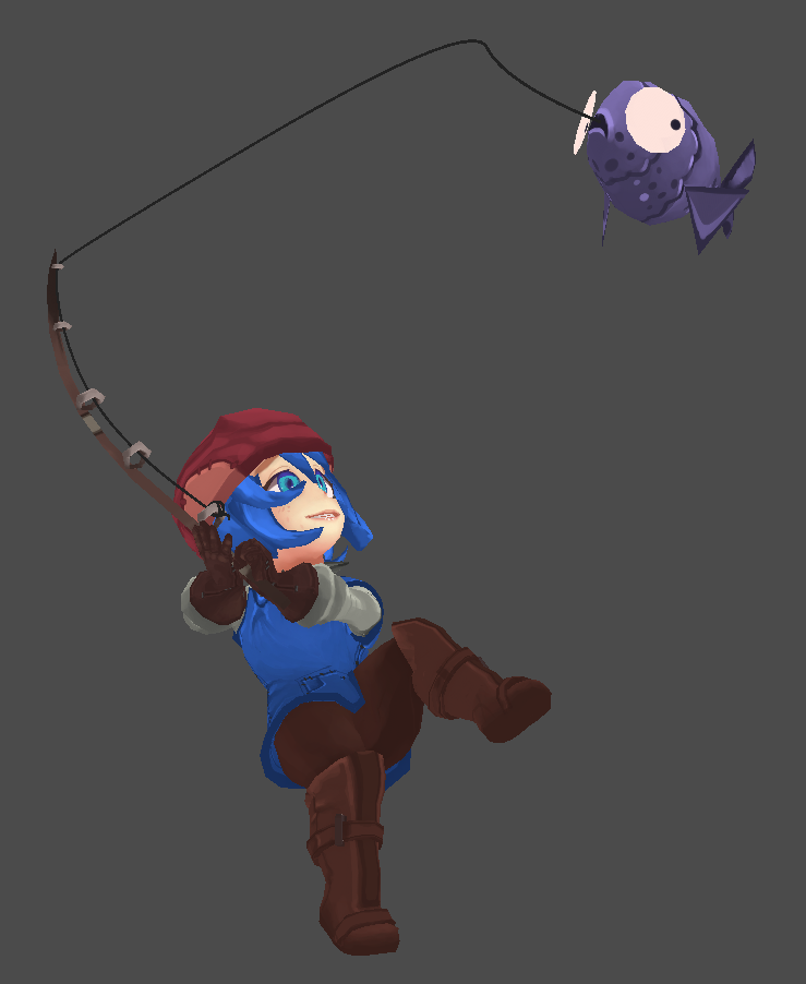 Fishing concept! It's not in game yet, and that is a placeholder fish, but this should hopefully give you an idea on what fishing will be like!