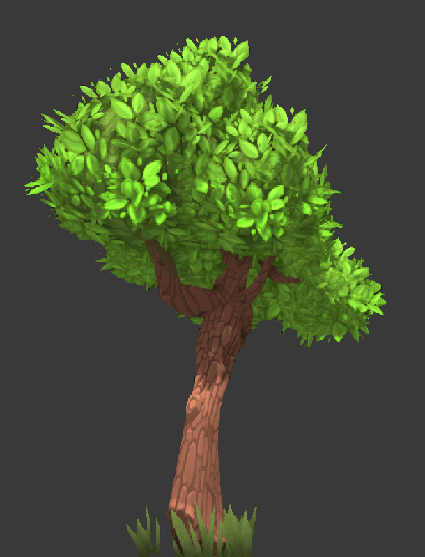 Check out one of the new trees, bushy!