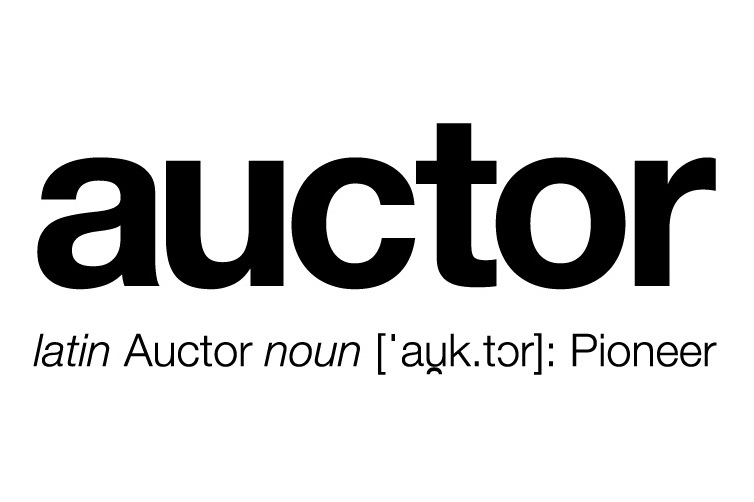 auctor // latin for pioneer