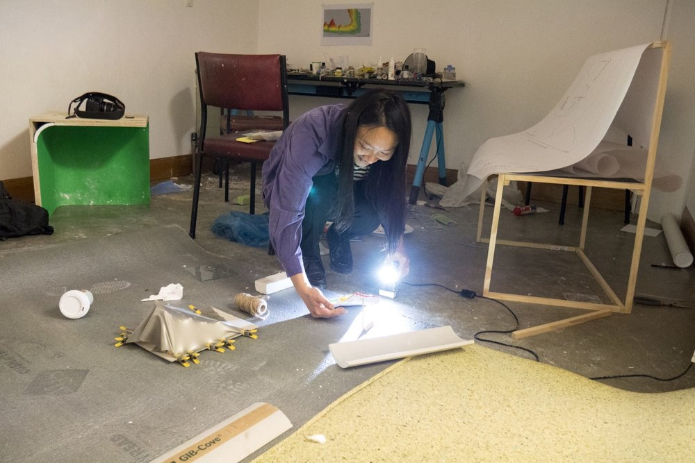 Multimedia artist Jossette Chiang in Studio 29