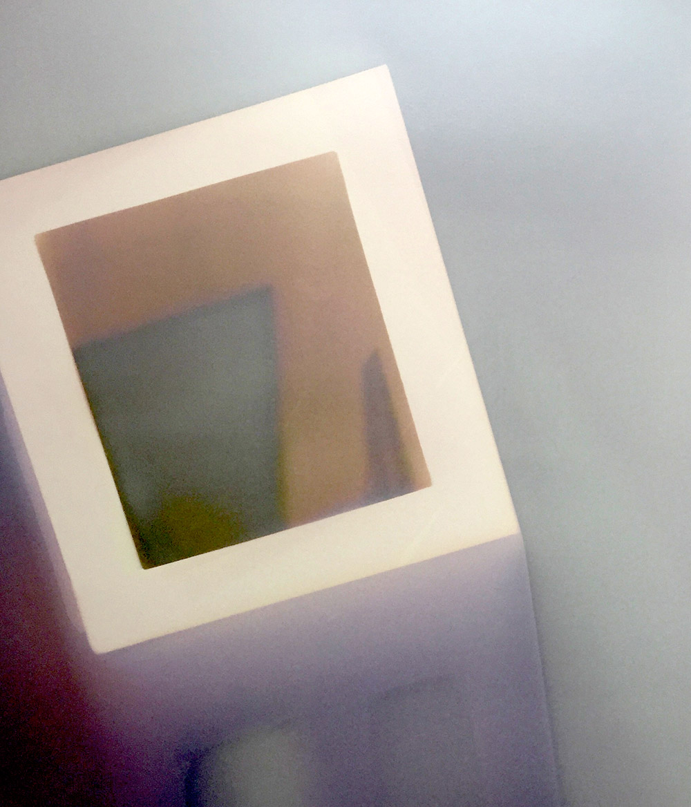 Untitled  Sungram of shadows cast on resin coated matte photographic paper.