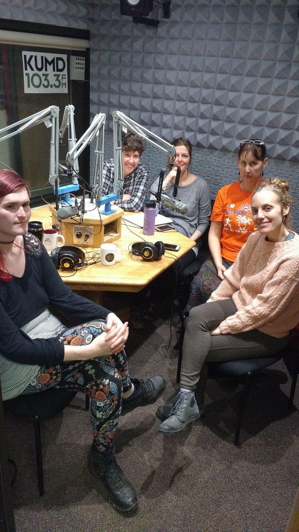 From left: Moriah Skye, Andrea Crouse, Anna Tennis, Lyz Jaakola, Shaunna Heckman
