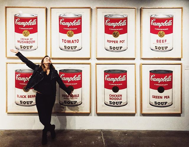 Anyone going to miss soup season now that Spring is upon us? 📍Andy Warhol Museum   Pittsburgh Pennsylvania    I found a new friend in Pittsburgh, and he's into art museums like me, and is game for multiple photo retakes! Now I just need some of your cookies, @alextcopeland! . . . #andywarhol #campbellssoup #andywarholmuseum #pittsburgh #visitpittsburgh #artmuseum #dcblogger #dctravelblogger #walkwithlocals #shockerinDC #katefromoz #portraitphotography #pghcreative #cityofbridges #andywarholart #pittsburghpa #steelcitygrammers #412project #igerspgh #downtownpittsburgh #visitpa #lovepgh #scenicPA #adventuresfromDC #DCroadtrip #roadtripUSA
