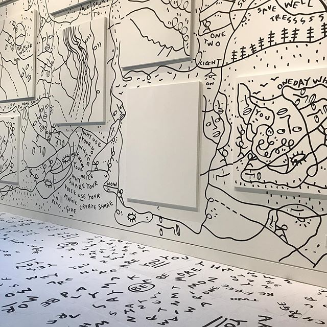 Shantell Martin | Charge Your Self on view @chandrangallery until September 8th! Go check it out! 〰➰➖➿✔️➰✖️〰➿✔️➖〰➿➖➰✖️〰 #feministfriday #womensupportingwomen #womanowned #art #contemporaryart #sanfrancisco