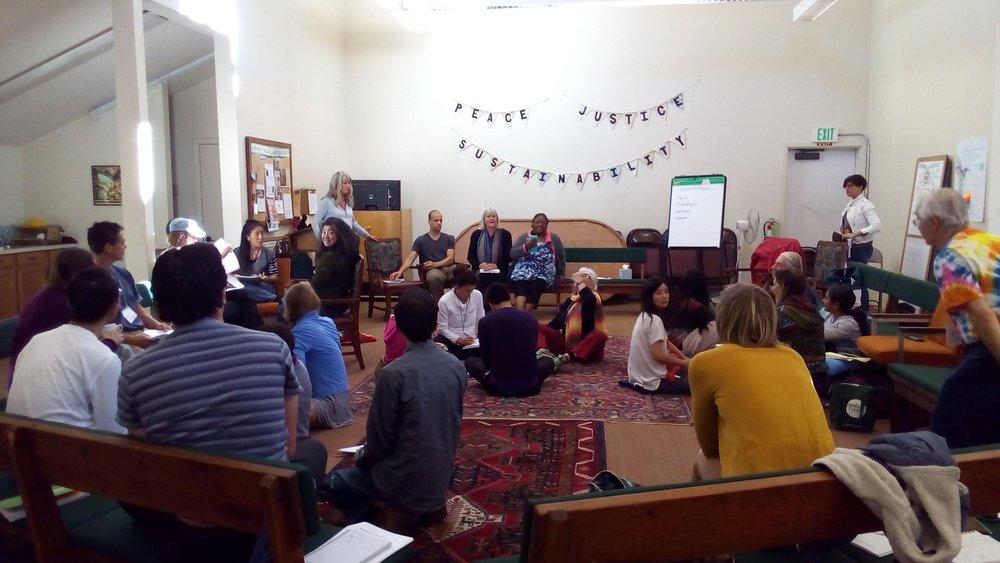 世界中から参加者が集まるLeadership Programの様子。